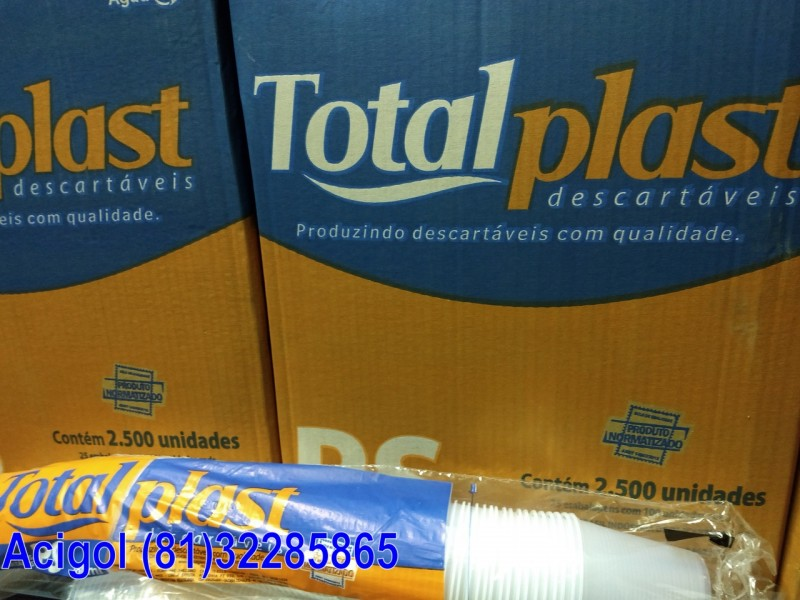 COPO DESCARTAVEL 180ML TOTALPLAST-ACIGOL 81 32285865-IMG_20171227_205256145