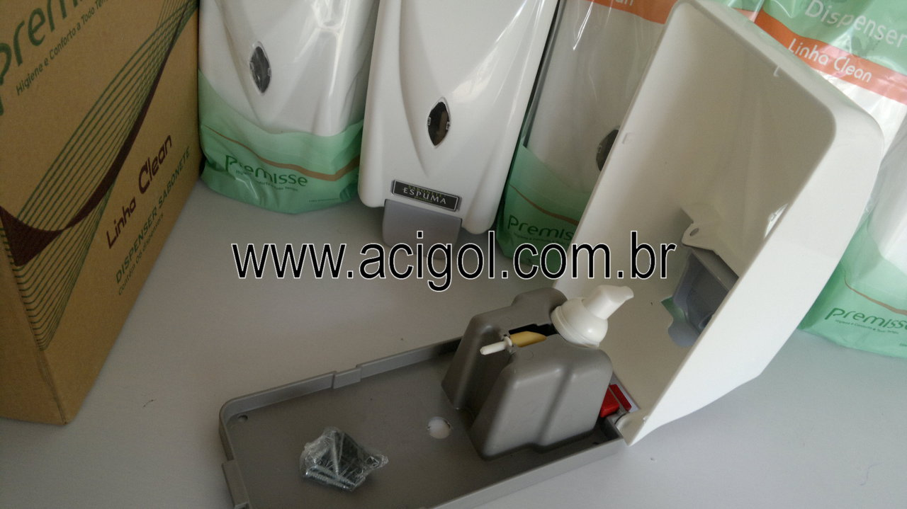 dispenser de sabonete espuma premisse-foto acigol 81 34451782-300120131335