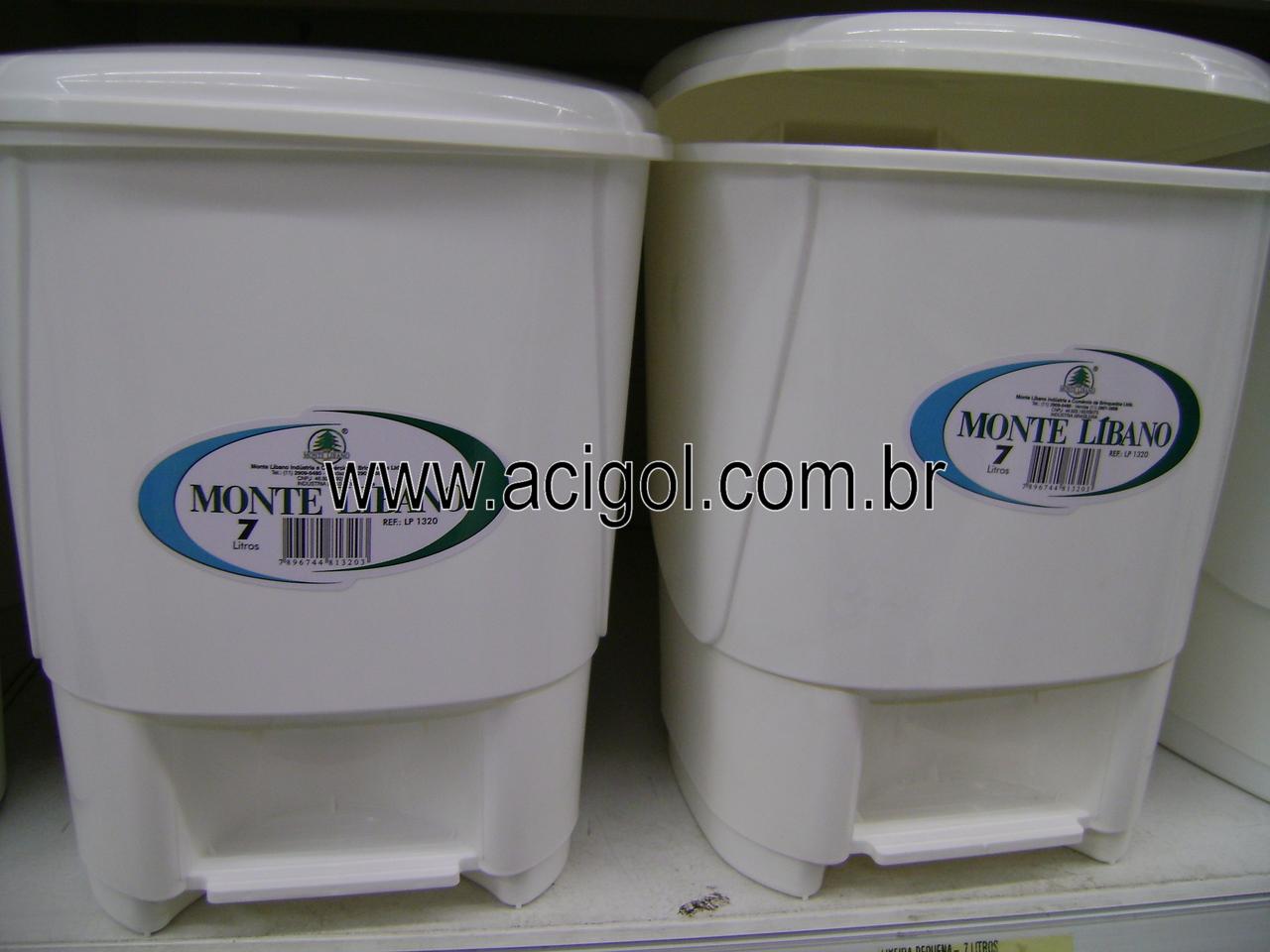 lixeira plastica com peda-Foto Acigol Recife 81 34451782l