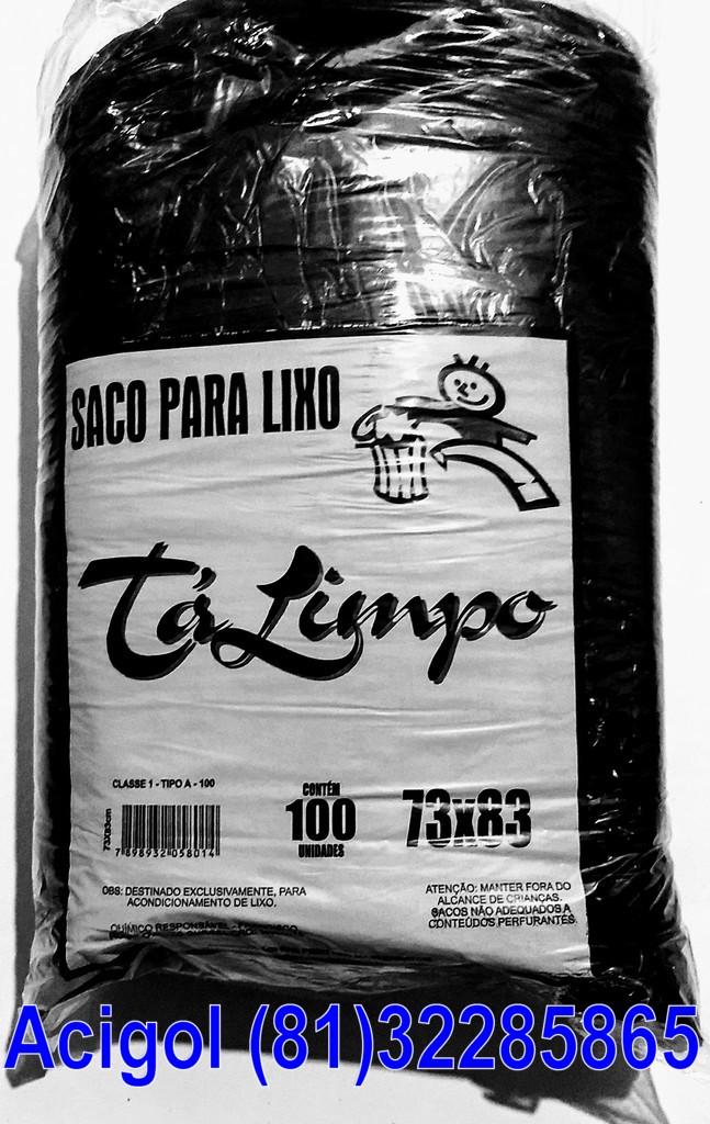 SACO LIXO TALIMPO 100 LITROS PRETO-ACIGOL 81 32285865-