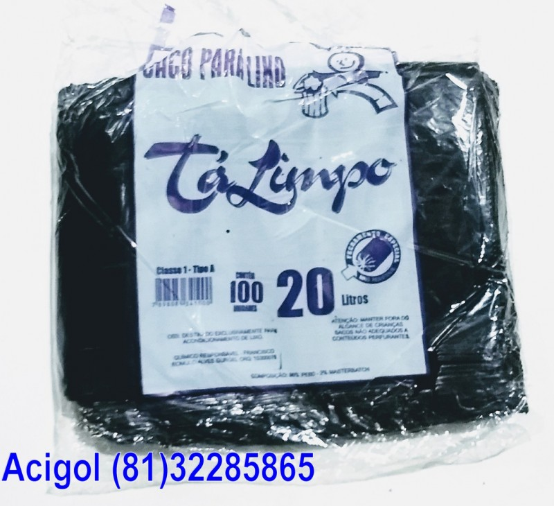 SACO LIXO TALIMPO 20 LITROS PRETO-ACIGOL 81 32285865-IMG_20180117_232449944