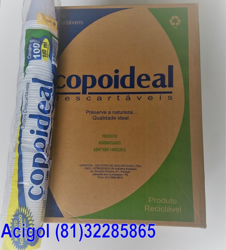 COPO DESCARTAVEL 180 ML COPOIDEAL-ACIGOL RECIF (81)32285865-IMG_20180218_123431689