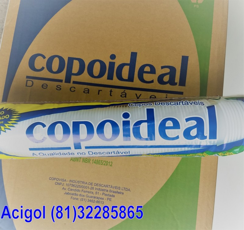 COPO DESCARTAVEL 180 ML COPOIDEAL-ACIGOL RECIF (81)32285865-IMG_20180218_123521053