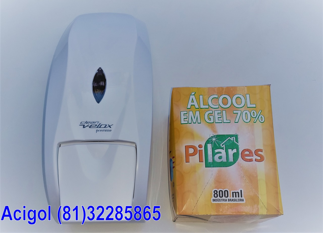 KIT ALCOOL GEL-DISPENSADOR E REFIL-ACIGOL RECIFE (81)32285865-IMG_20180224_171039096