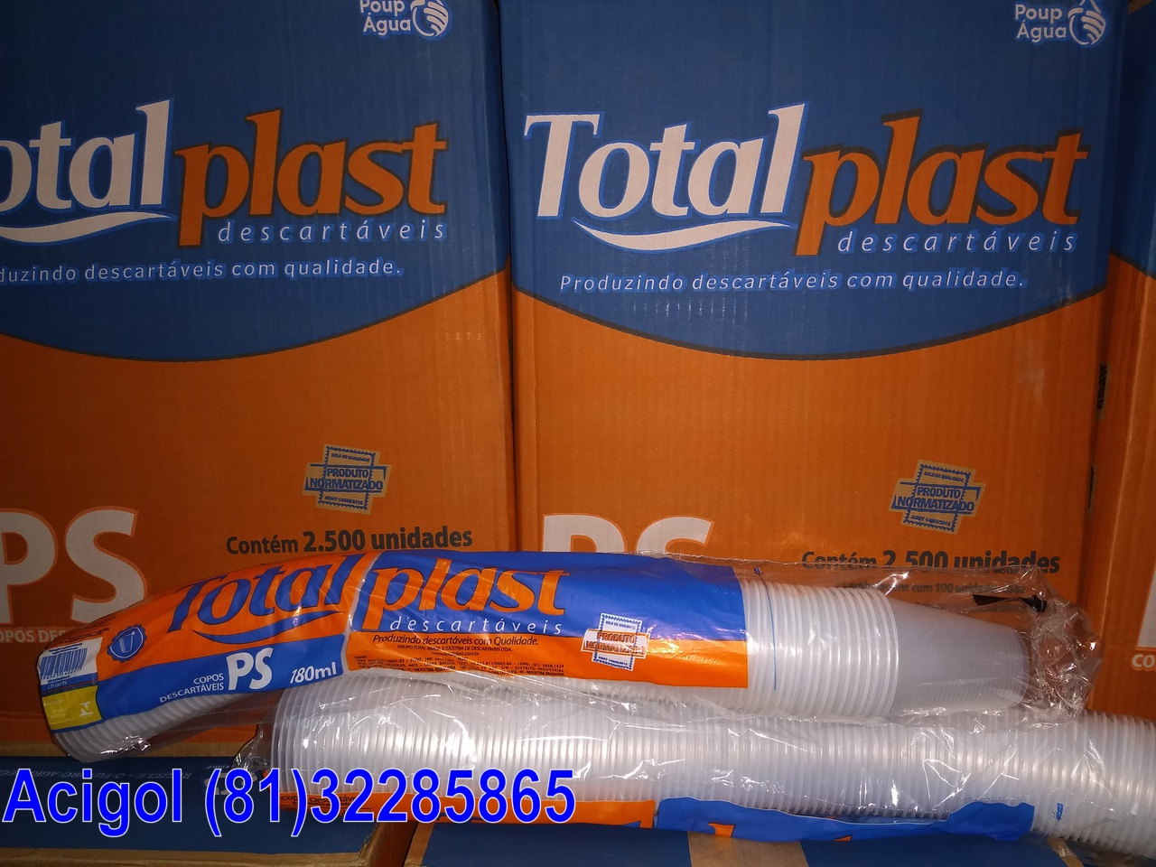 COPO DESCARTAVEL 180ML TOTALPLAST-ACIGOL 81 32285865-IMG_20171227_205352966