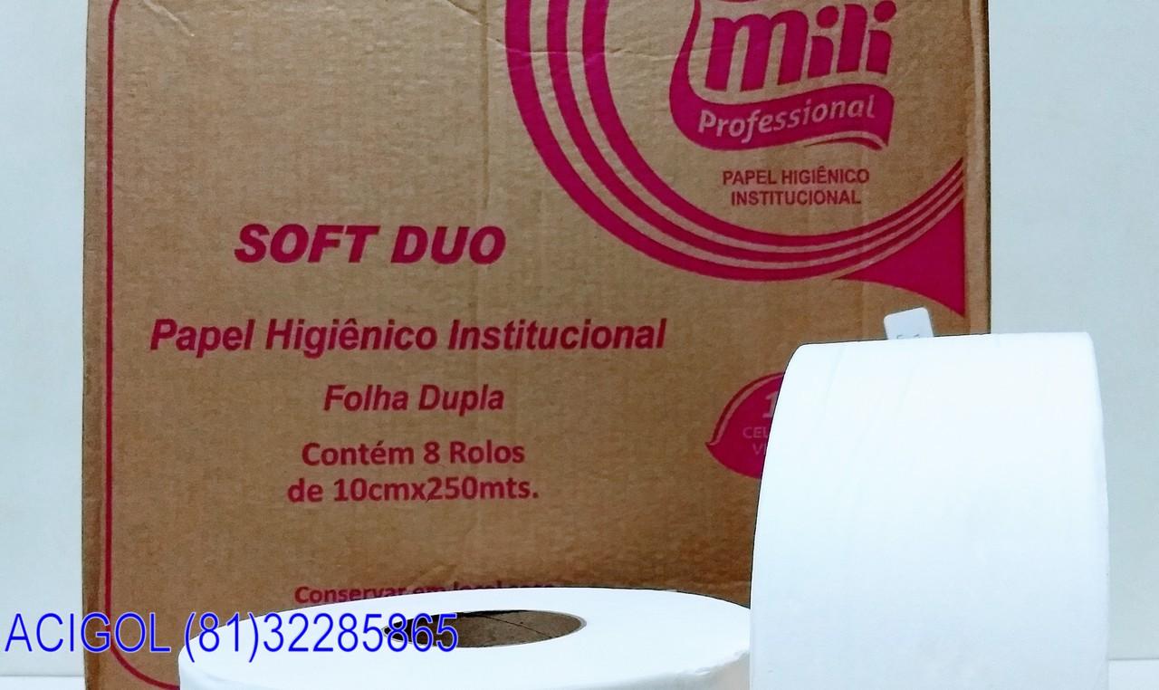 PAPEL HIGIENICO BIG ROLL FOLHAS DUPLAS MILI PROFESSIONAL-ACIGOL RECIFE 81 32285865-IMG_20180805_203024998