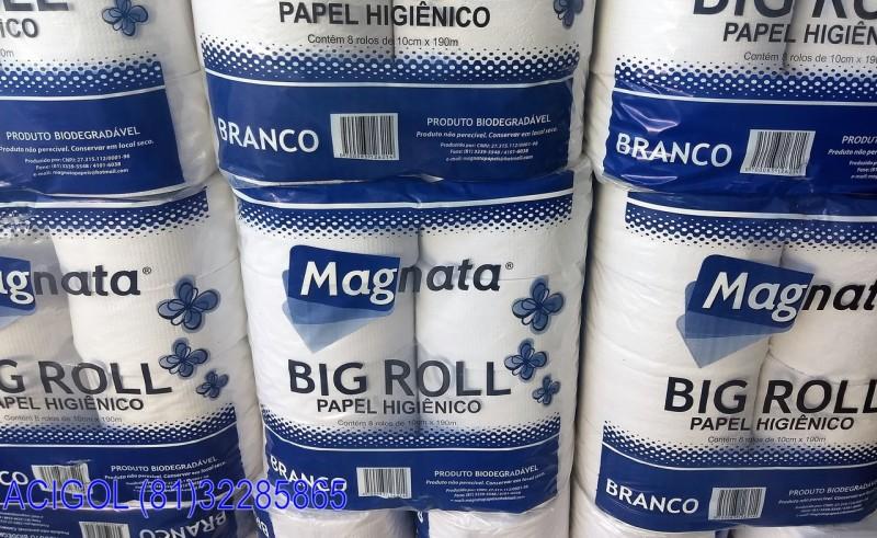 PAPEL HIGIENICO BRANCO BIG ROLL MAGNATA-ACIGOL RECIFE 8132285865-IMG_20180715_151929001