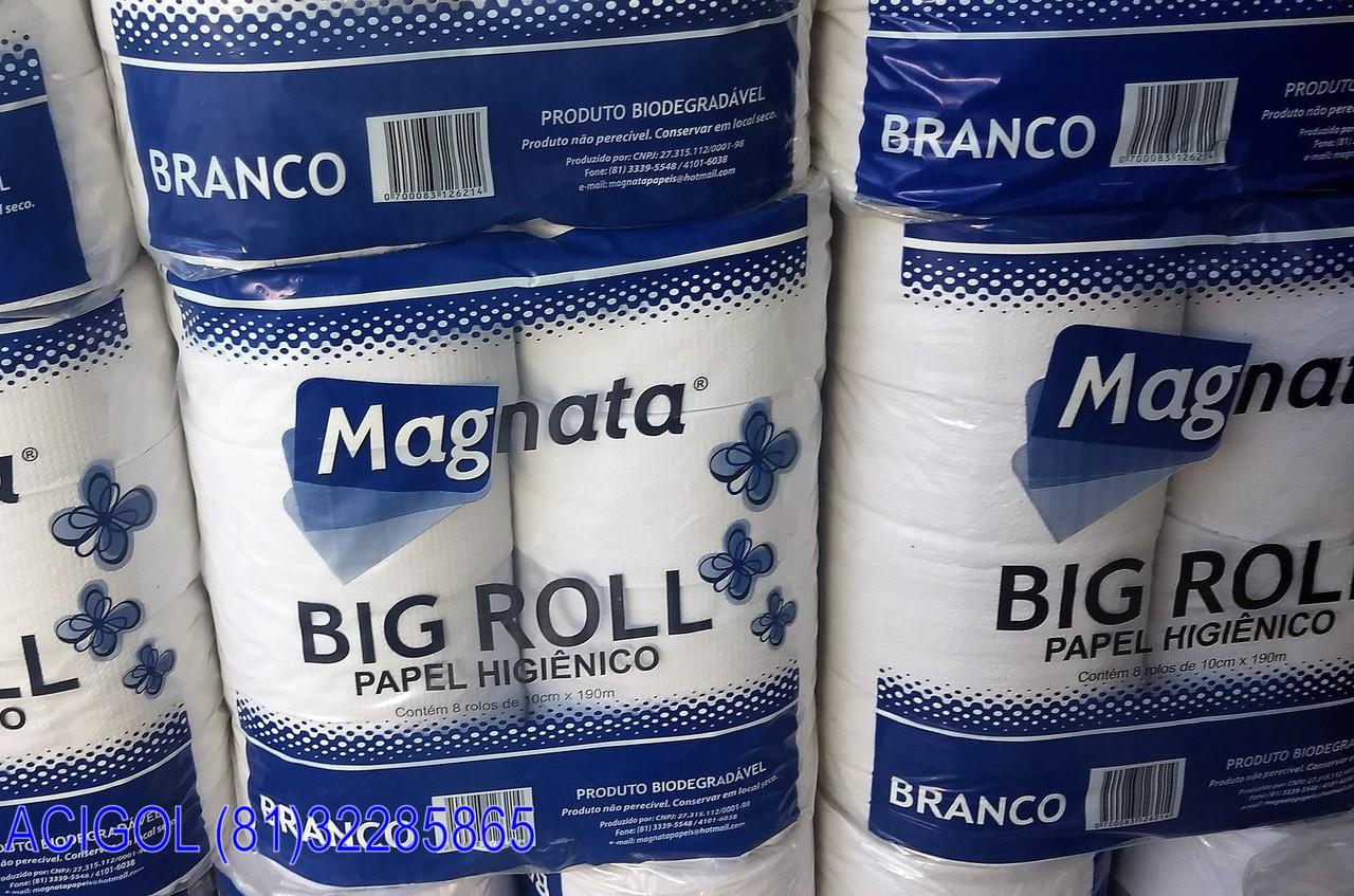 PAPEL HIGIENICO BRANCO BIG ROLL MAGNATA-ACIGOL RECIFE 8132285865-IMG_20180715_151958794