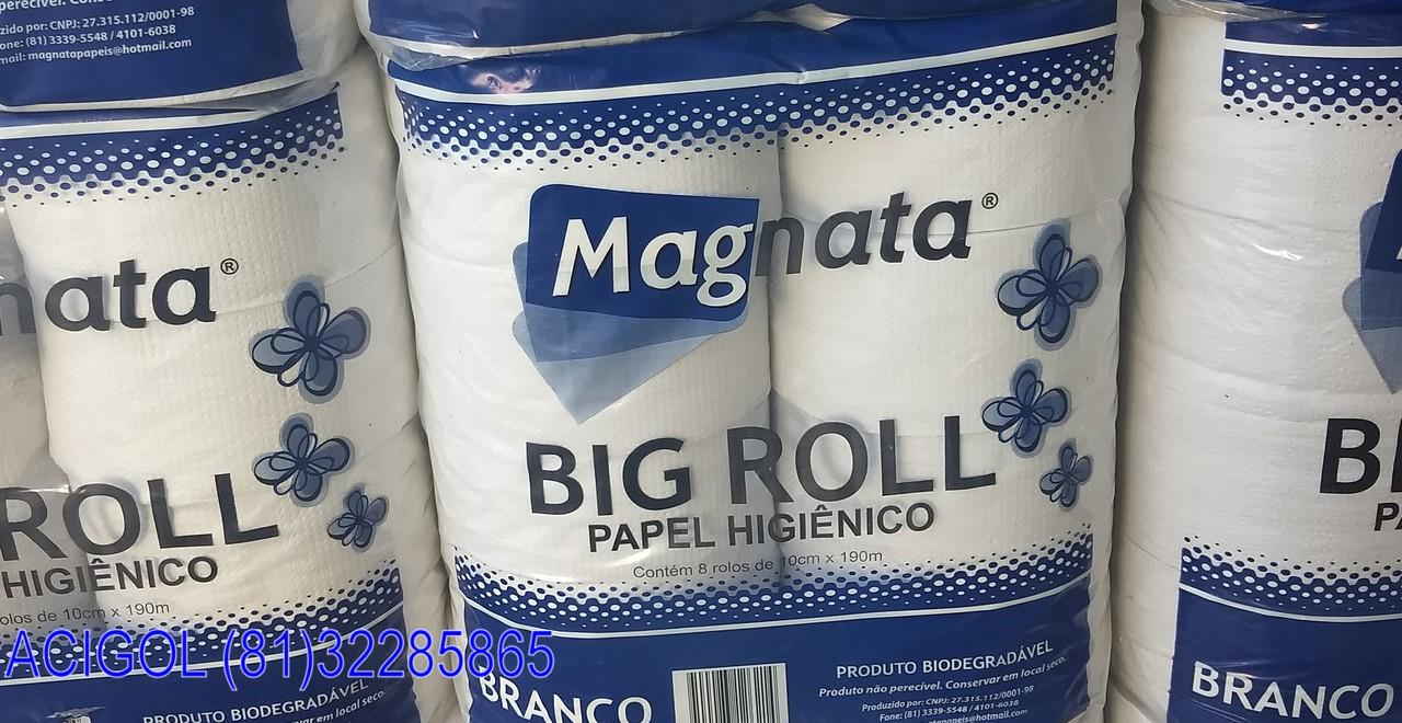 PAPEL HIGIENICO BRANCO BIG ROLL MAGNATA-ACIGOL RECIFE 8132285865-IMG_20180715_152003888