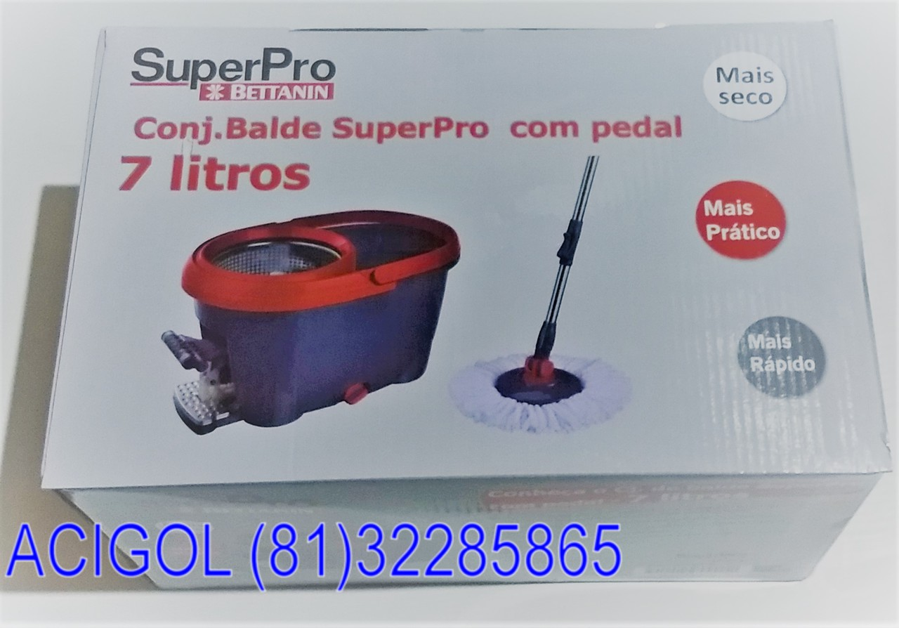 CONJUNTO MOP SUPER PRO DUAS AGUAS 7 LITROS-ACIGOL RECIFE 81 32285865-IMG_20180813_195749375_BURST001
