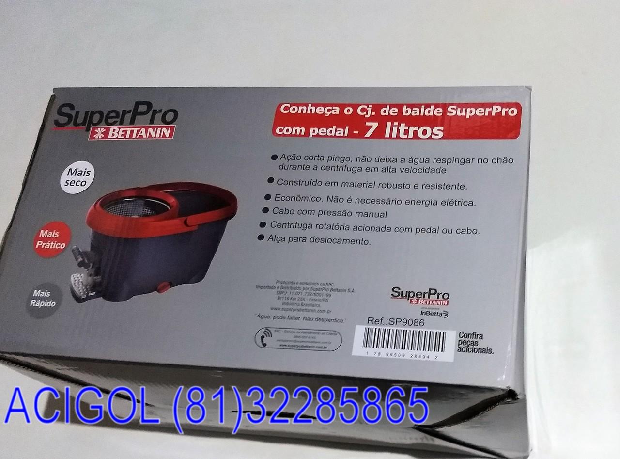 CONJUNTO MOP SUPER PRO DUAS AGUAS 7 LITROS-ACIGOL RECIFE 81 32285865-IMG_20180813_195948888