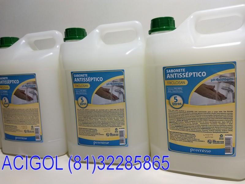 SABONETE LIQUIDO ANTISEPTICO PREMISSE COM 5 LT-ACIGOL RECIFE 81 32285865-MG_20181107_221154859
