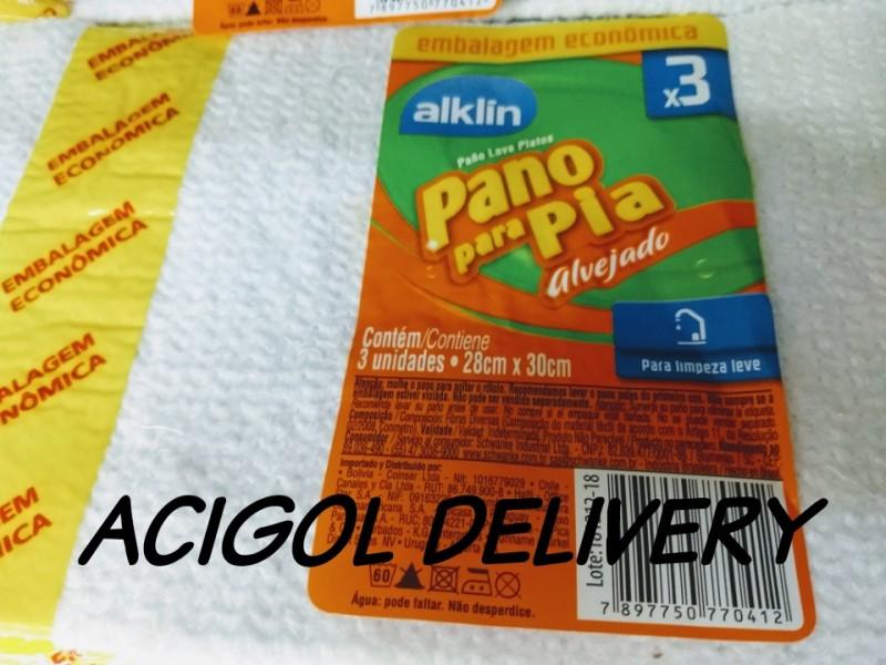 PANO DE PIA COM 3 UNIDADES-ACIGOL DELIVERY 81 32285865-IMG_20190827_194224_