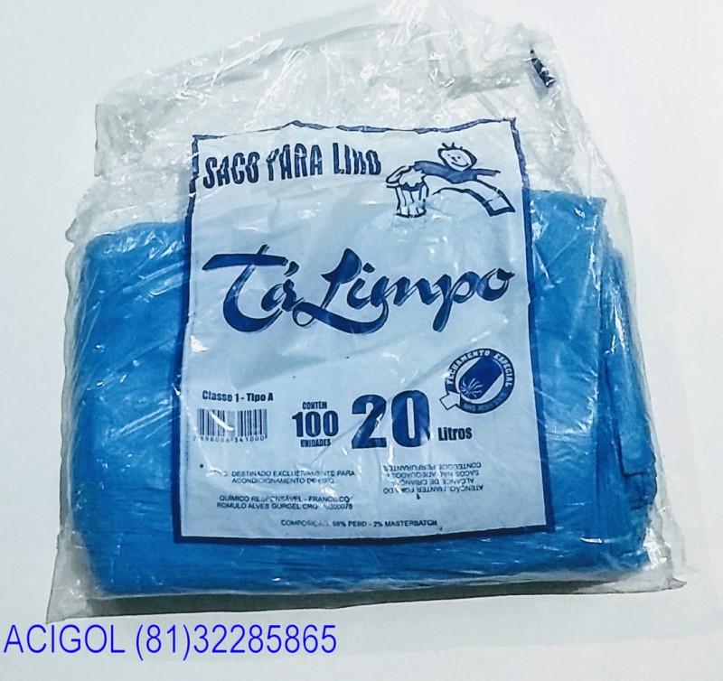 SACO DE LIXO TALIMPO PACOTE COM 100 SACOS 20 LITROS AZUL-ACIGOL 81 32285865-IMG_20180117_232048340