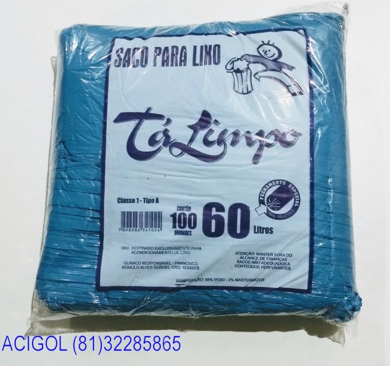 SACO DE LIXO TALIMPO PACOTE COM 100 SACOS 60 LITROS AZUL-ACIGOL 81 32285865-IMG_20180117_232127780