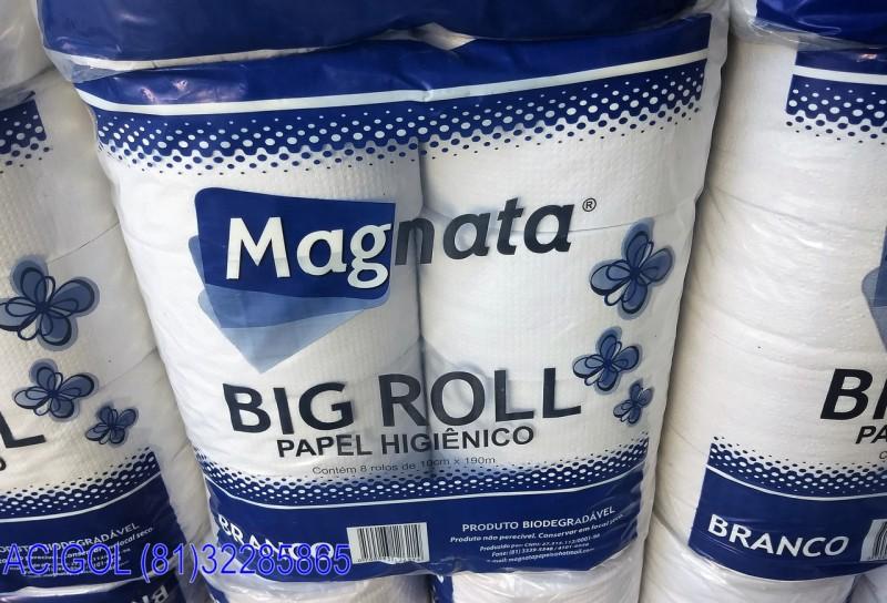PAPEL HIGIENICO BRANCO BIG ROLL MAGNATA-ACIGOL RECIFE 8132285865-IMG_20180715_151932440