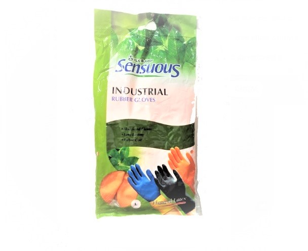 LUVA INDUSTRIAL RUBBER GLOVES LARANJA