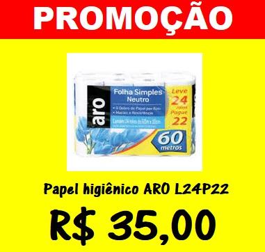 PROMOÇÃO PAPEL HIGIENICO ARO L24P22