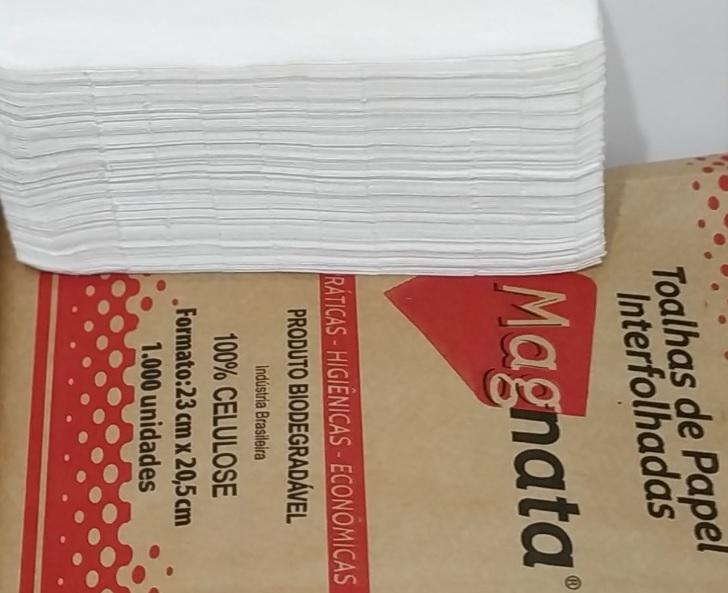 TOALHA DE PAPEL MAGANTA 100 PC COM 1000 FLS-ACIGOL PAPEL TOALHA MAGANATA