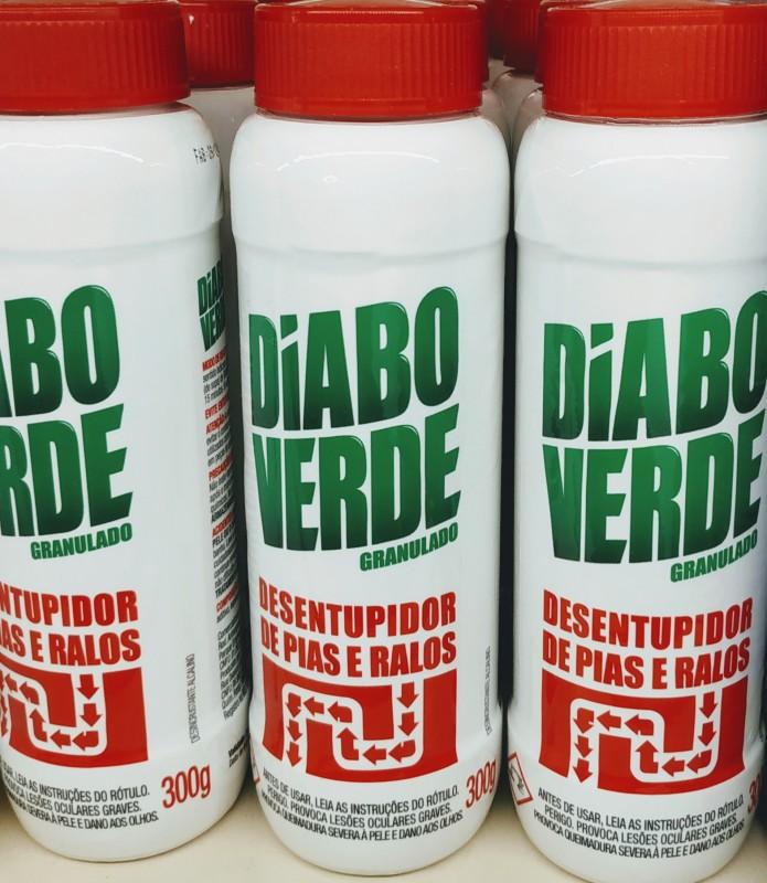 DIABO VERDE EM PÓ DESENTUPIDOR DE PIAS 090121