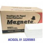 PAPEL I TOALHA INTERFOLHA MAGNATA CELULOSE VIRGEM COM 2400 FLS - ACIGOL 81 32285865