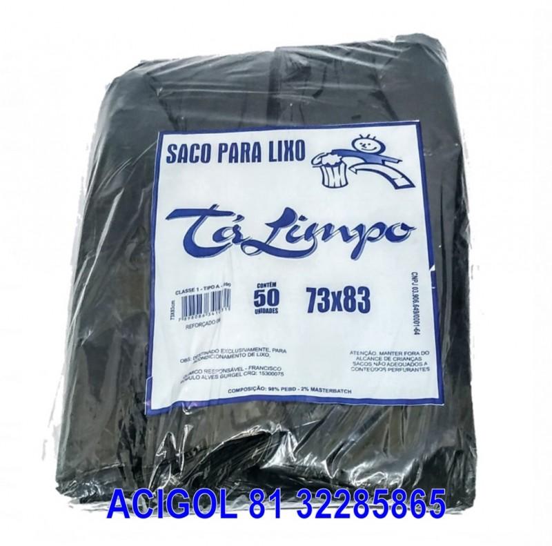 SACO I PARA LIXO TALIMPO PRETO CAPACIDADE 100 LITROS REFOÇADO COM 50-ACIGOL 81 32285865