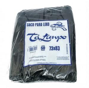 SACO PARA LIXO TALIMPO PRETO CAPACIDADE 100 LITROS REFOÇADO COM 50-ACIGOL 81 32285865