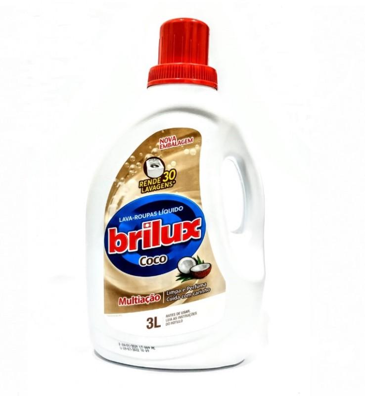 lava roupas liquido brilux coco 3 litros - acigol 81 32285865
