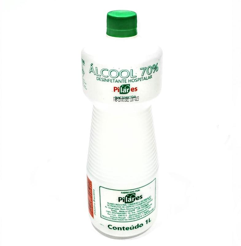 ALCOOL ETILICO HIDRATADO PILARES LIQUIDO 70 INCM COM 1 LITRO - ACIGOL 81 32285856