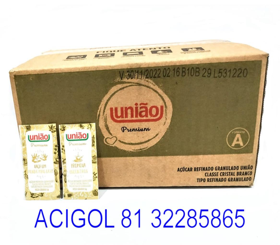 ACUCAR SACHE UNIÃO PREMIUM COM 400X5G - ACIGOL 81 32285865