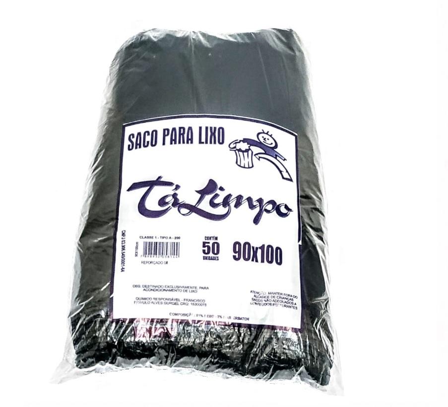 SACO PARA LIXCO TALIMPO COMERCIAL 5 MICRAS PRETO COM 50 SACOS - ACIGOL 81 32285865