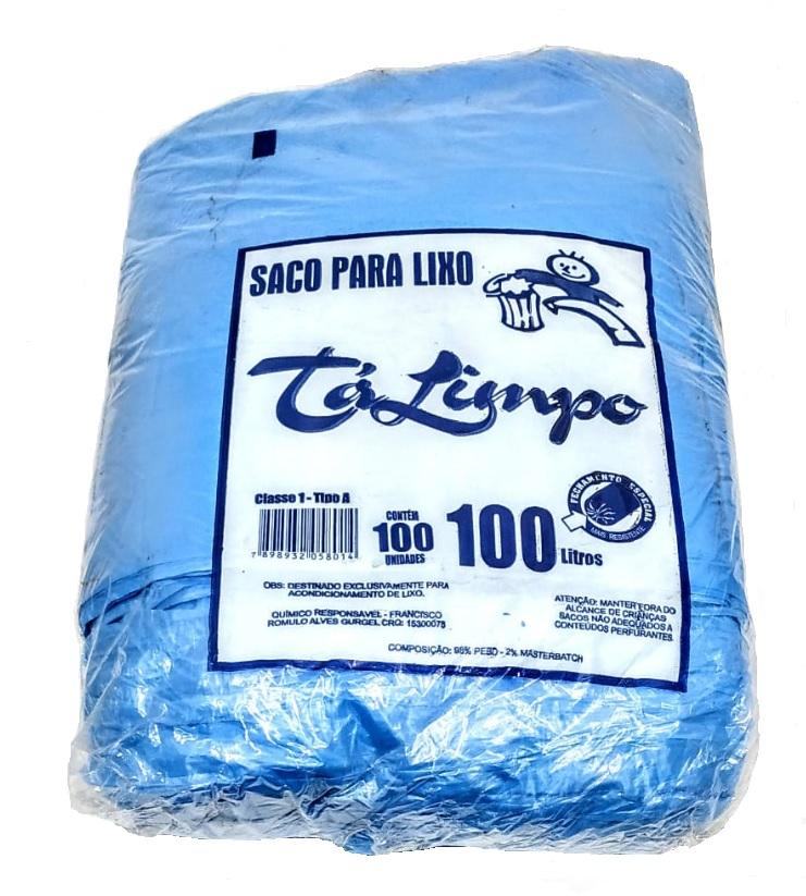 SACO PARA LIXO TALIMPO CAPACIDADE 100 LITROS AZUL - ACIGOL 8132285865
