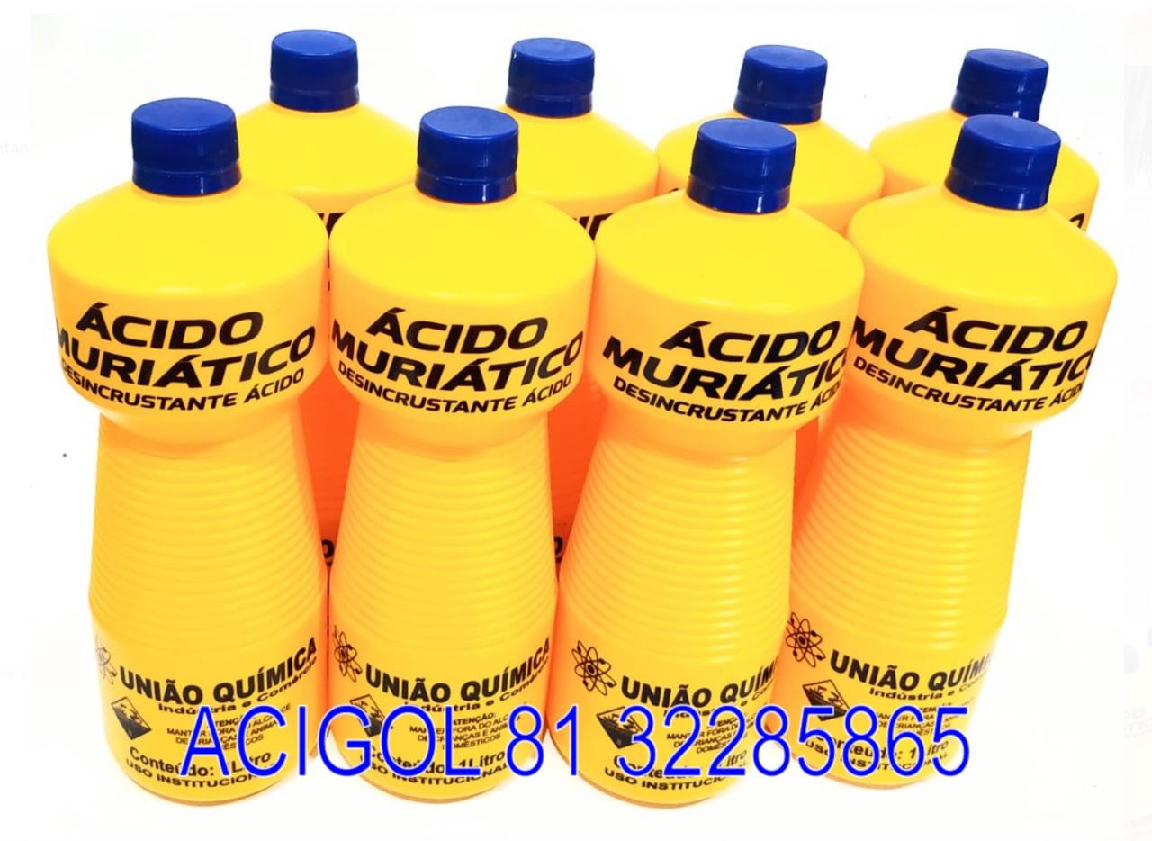 ACIDO MURIATICO COM 1 LITRO - ACIGOL RECIFE 81 32285865