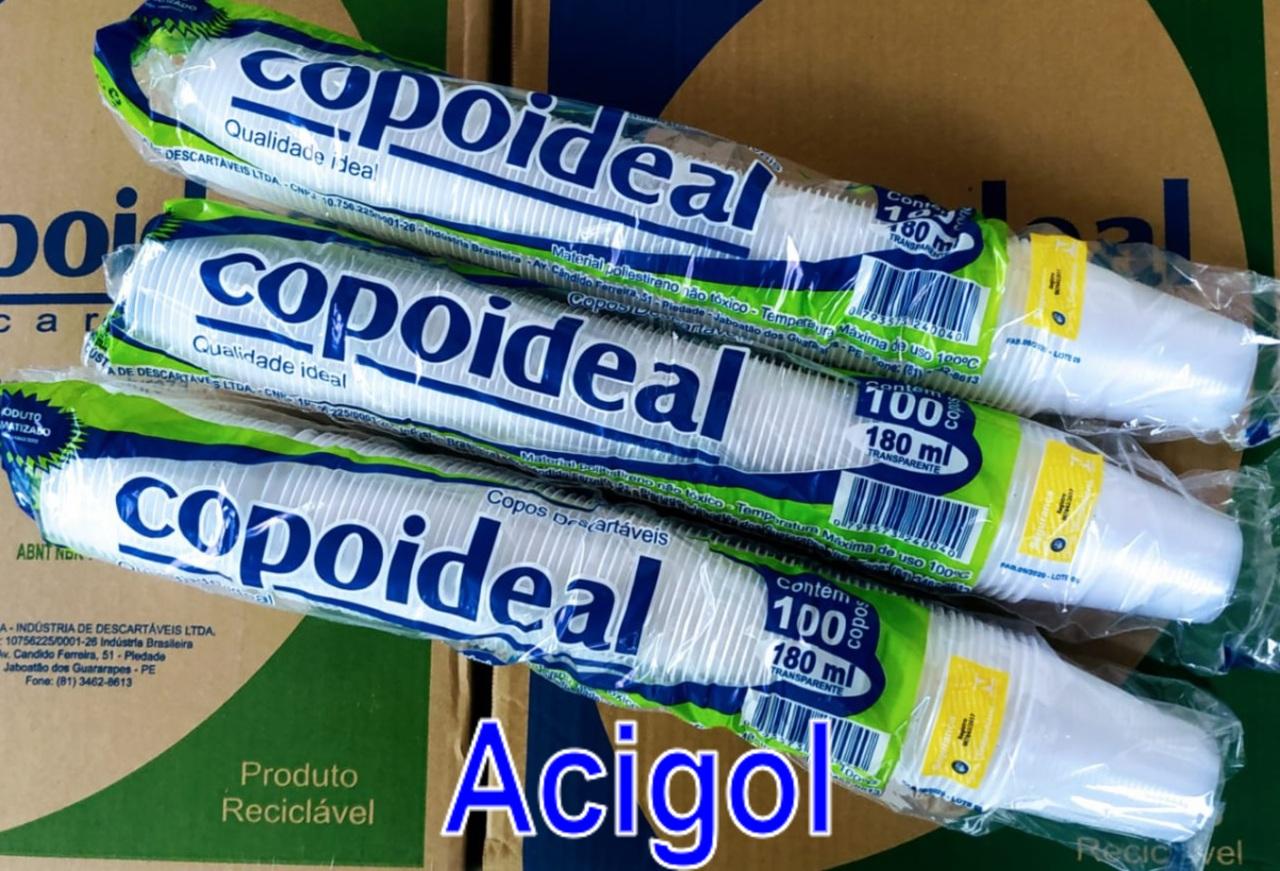 COPO DESCARTAVEL 180 ML COPOIDEAL - ACIGOL COPOS DESCARTAVEIS - Copia