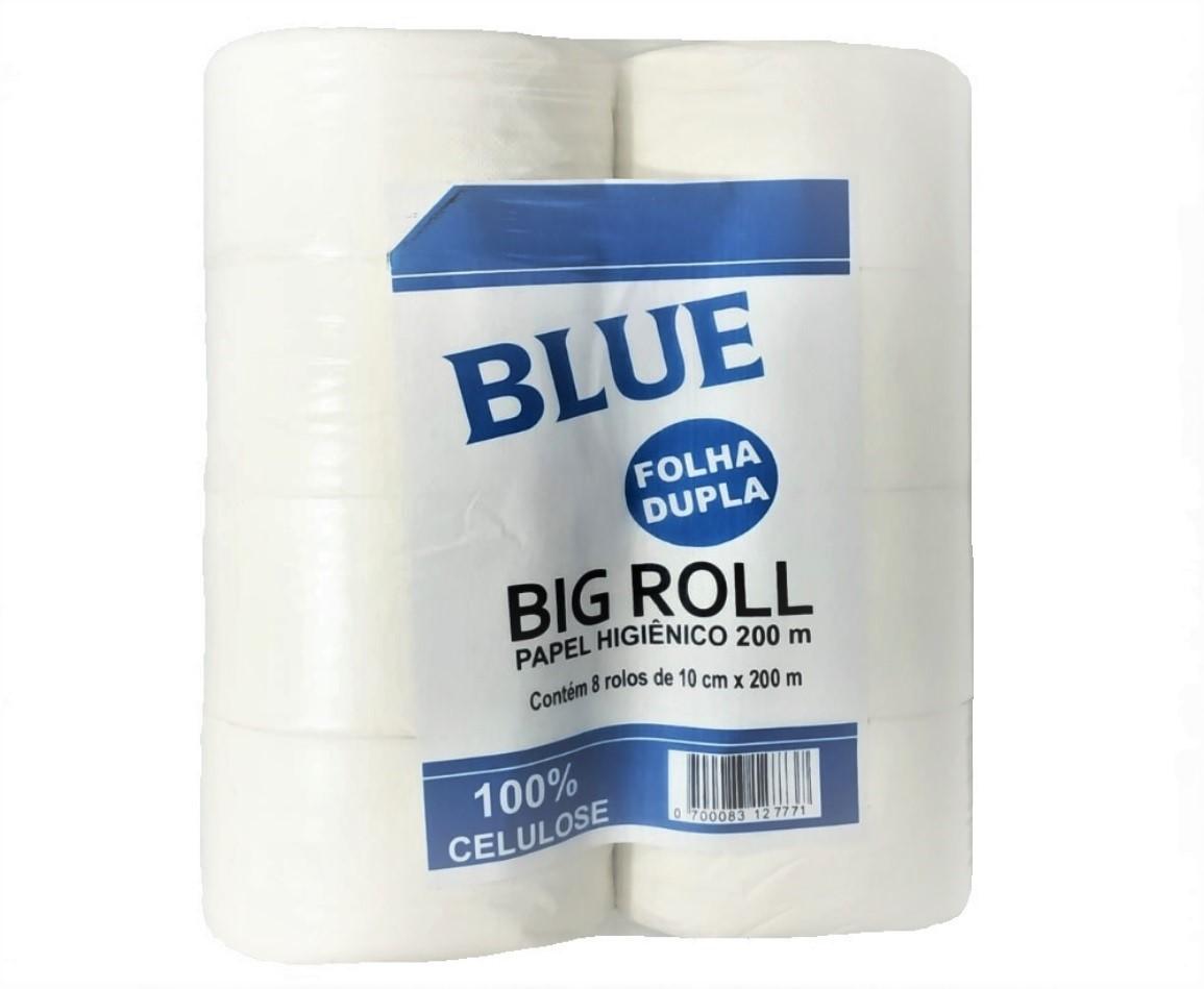 PAPEL HIGIENICO BIG ROLL BLUE FOLHAS DUPLAS FD COM 8X200M - ACIGOL 81 32285865