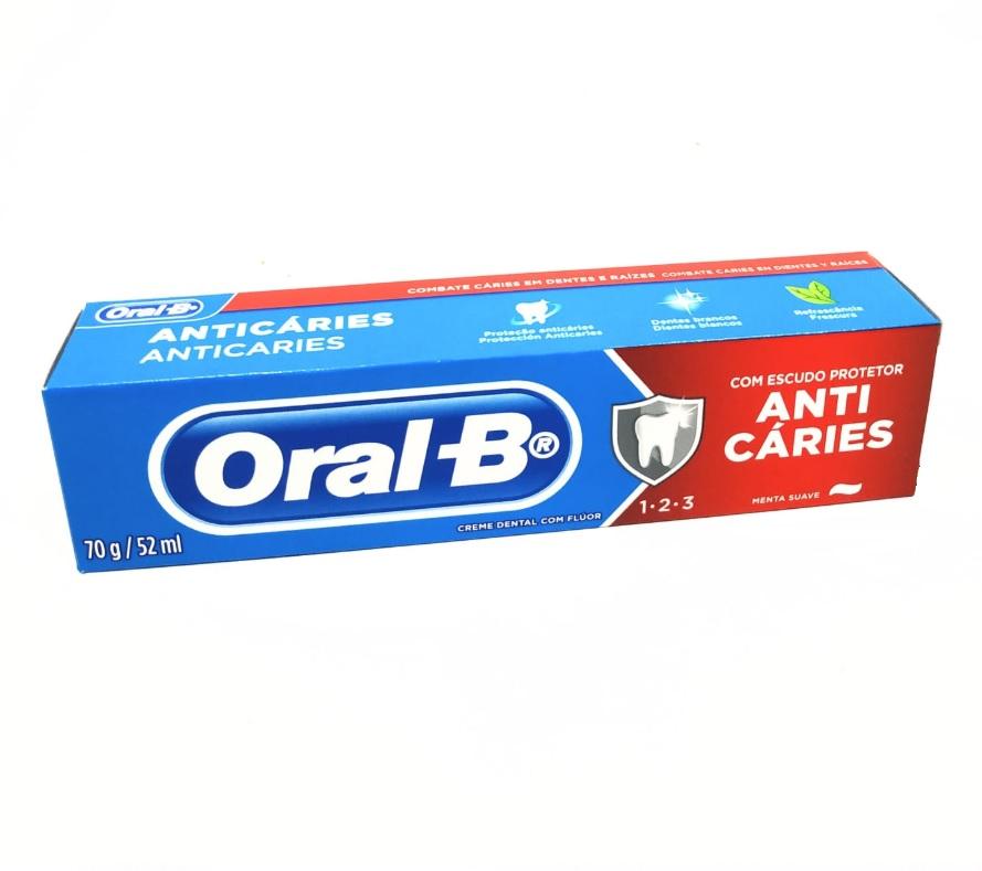 CREME DENTAL ORAL-B 70G COM ESCUDO PROTEÇÃO ANTI CARIES - ACIGOL 81 32285865