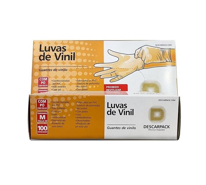 LUVA DE VINIL COM PO DESCARPCK CX COM 100 UNIDADES - ACIGOL 81 32285865